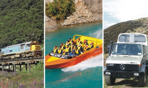 Jet 4WD Train - Alpine Safari Combo - Christchurch