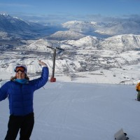 The view from the top of Coronet Peak ski field in Queenstown.