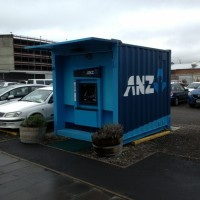 Only in Christchurch - a container ATM machine