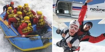 Skydiving & Raft Combo - Everything Queenstown