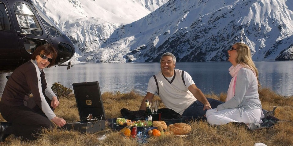 Helicopter Flight - Picnic On A Peak