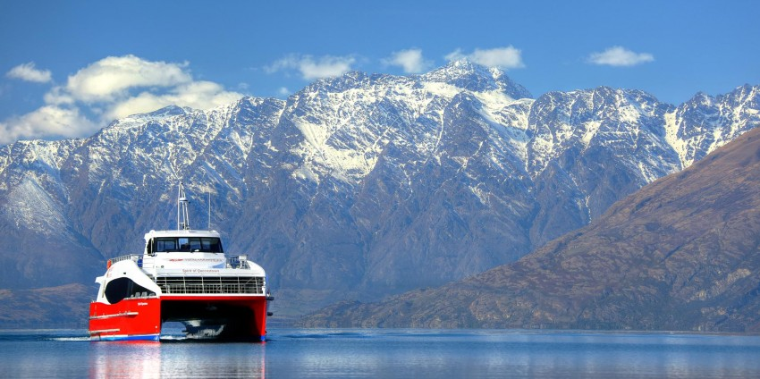 Spirit of Queenstown and Remarkables in the background