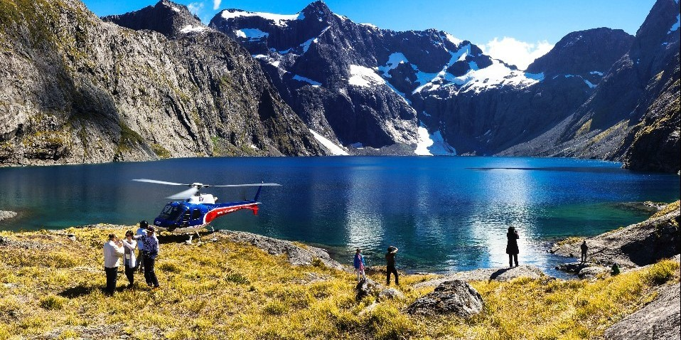 Helicopter Flight - Milford & Alps